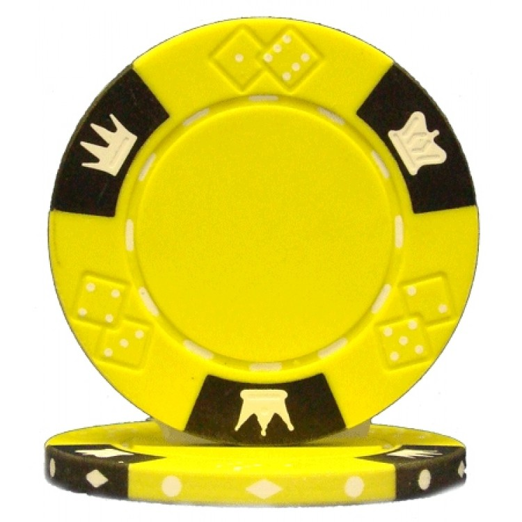 Roll of 25 - Crown & Dice 3 Tone 14 gram - Yellow