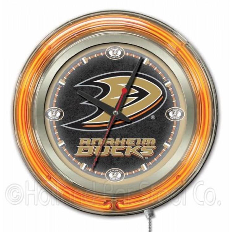 """Anaheim Ducks 15"""" Neon Clock"""