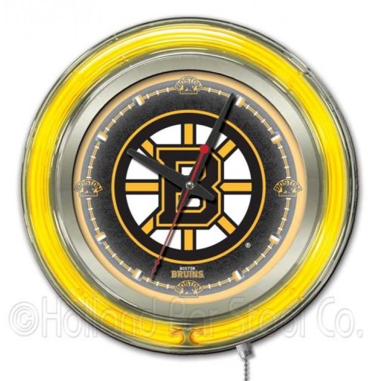 "Boston Bruins 15"" Neon Clock"