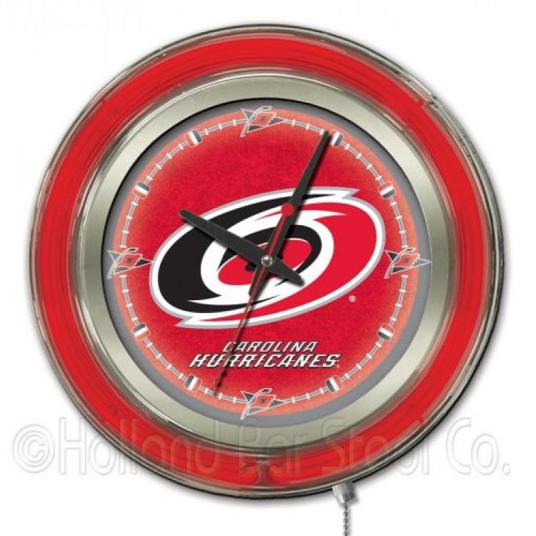 "Carolina Hurricanes 15"" Neon Clock"