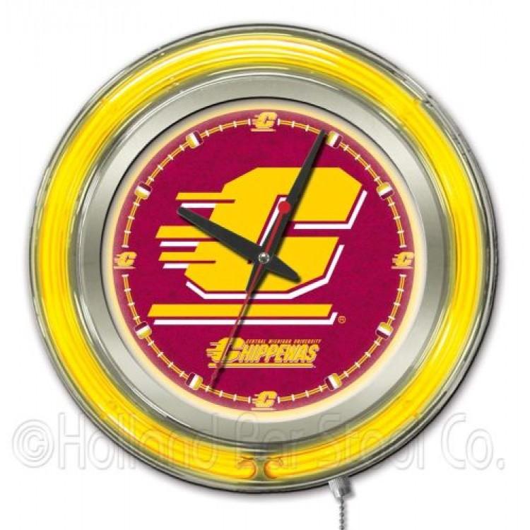 "Central Michigan University 15"" Neon Clock"