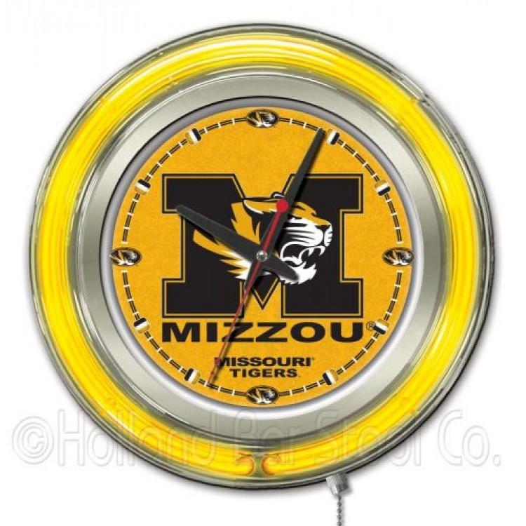 "University of Missouri 15"" Neon Clock"