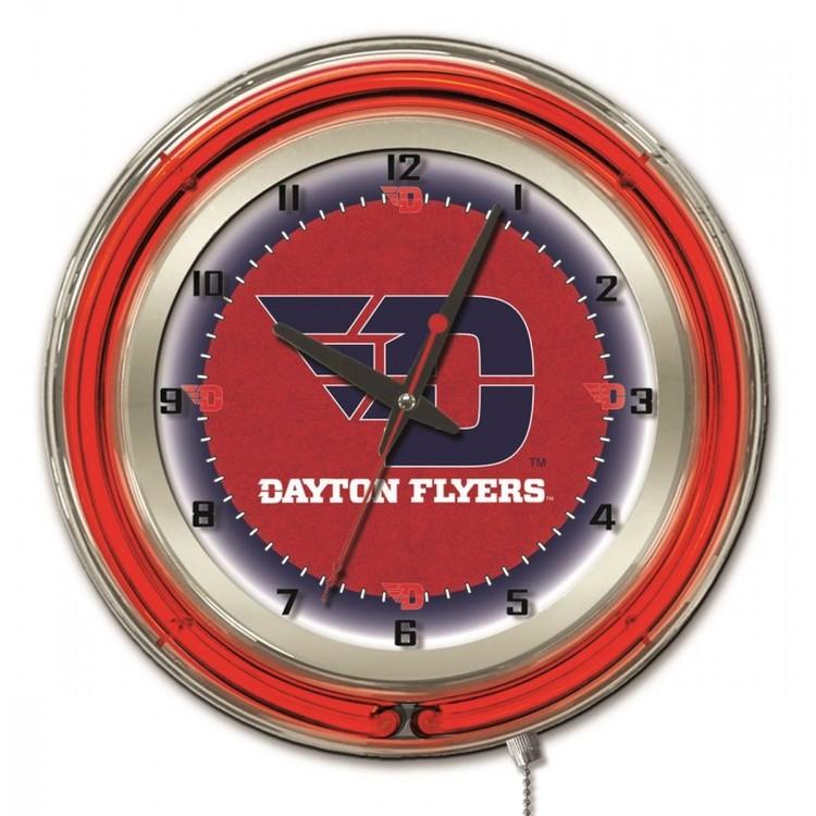 "Dayton Flyers 19"" Neon Clock"