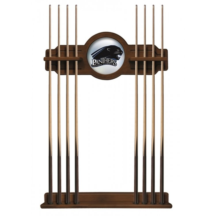 Eastern Illinois Panthers Cue Rack in Chardonnay Finish