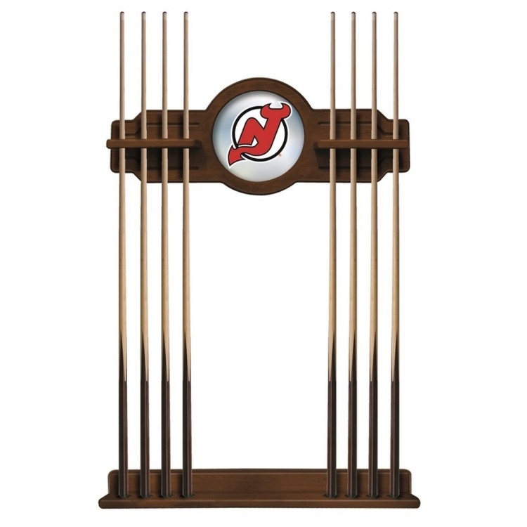 New Jersey Devils Cue Rack in Chardonnay Finish