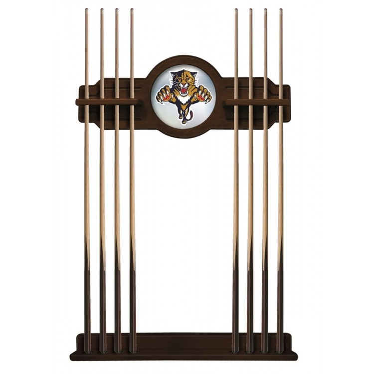 Florida Panthers Cue Rack in Chardonnay Finish