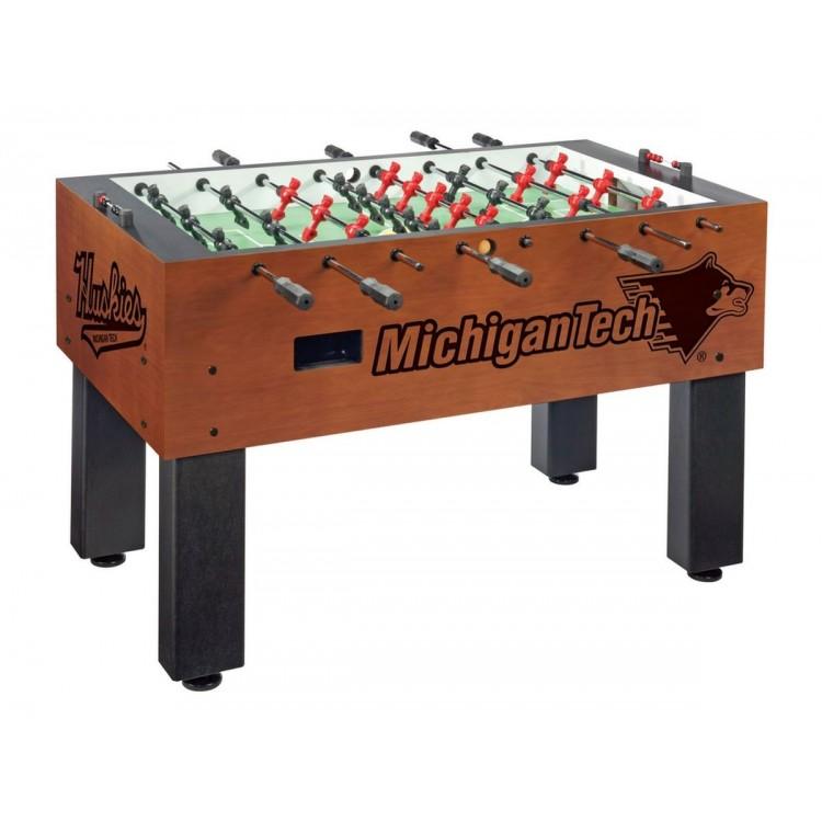 Michigan Tech Huskies University Chardonnay Foosball Table