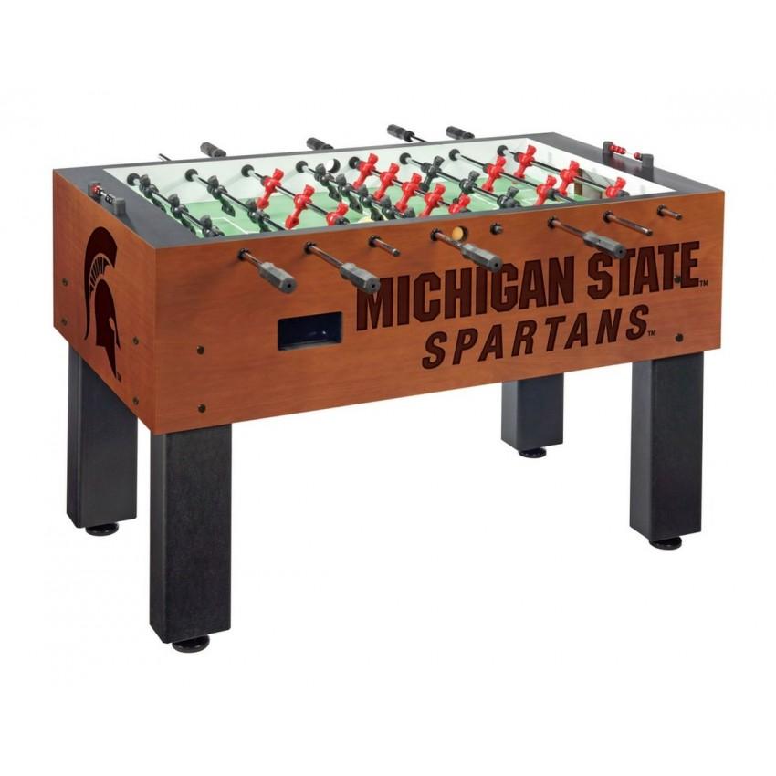 Michigan State Cue Rack in English Tudor Finish Holland Bar Stool Co