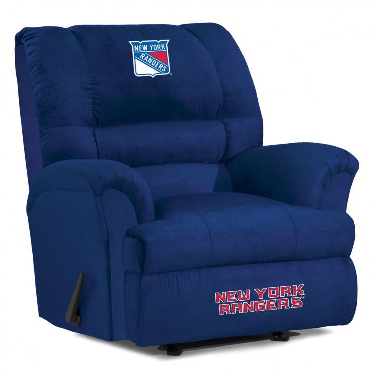 New York Rangers Big Daddy Microfiber Recliner