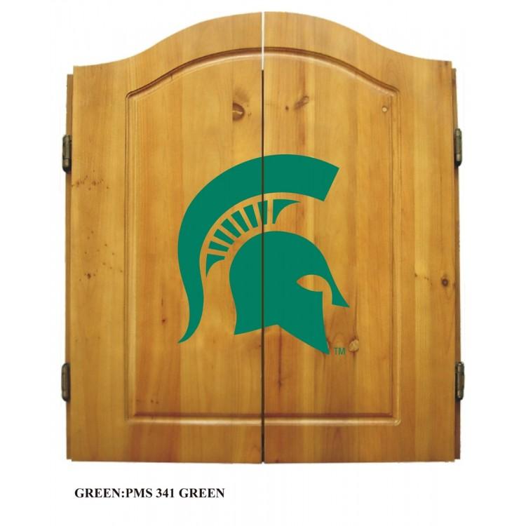 Michigan State Spartans Dart Cabinet