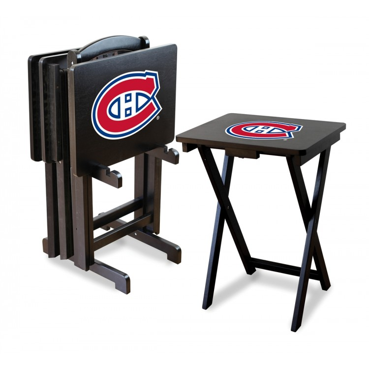 Montreal Canadiens TV Trays w/ Stand