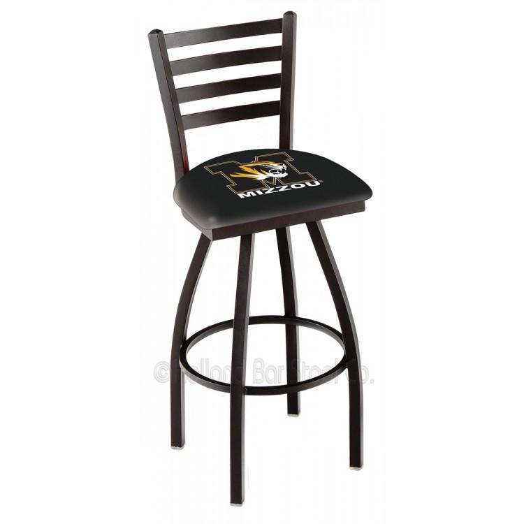 """Missouri Tigers 25"""" Black Wrinkle Bar Stool Bar Stool"""