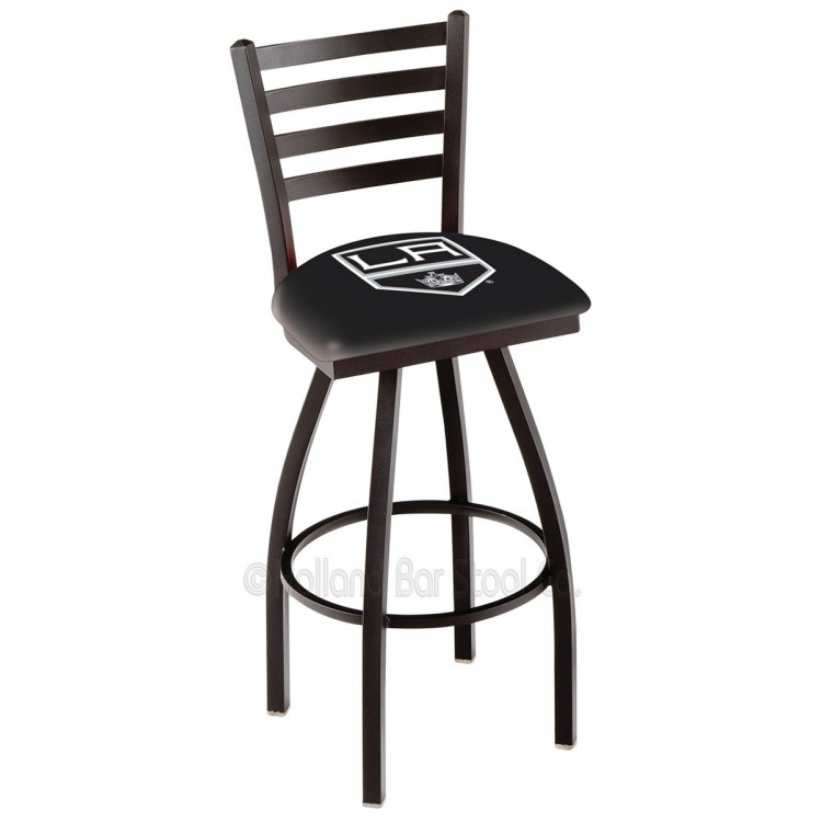 "Los Angeles Kings 30"" Black Wrinkle Bar Stool"