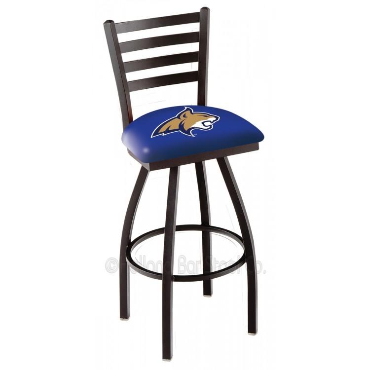 "Montana State Bobcats 30"" Black Wrinkle Bar Stool"