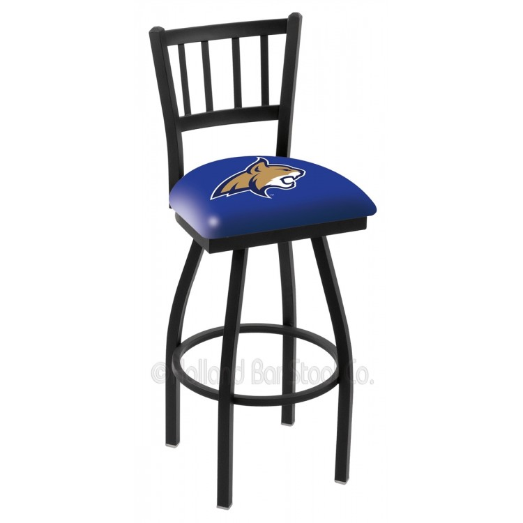 "Montana State Bobcats 25"" Black Wrinkle Jailhouse Bar Stool"