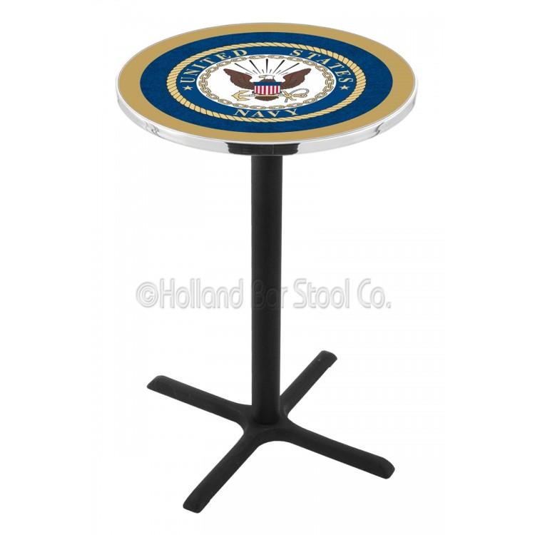 """U.S. Navy 36"""" L211 Black Wrinkle Pub Table"""