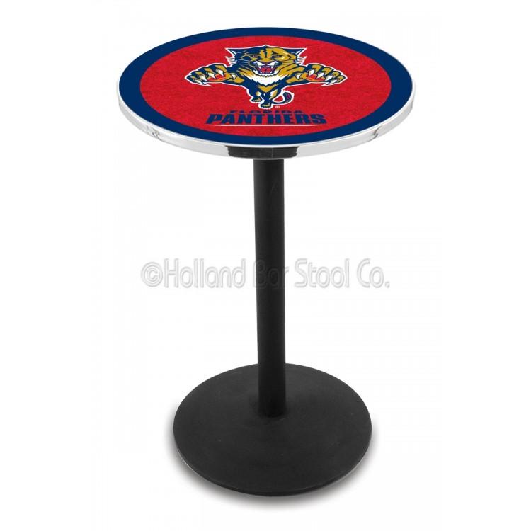 "Florida Panthers 42"" L214 Black Wrinkle Pub Table"
