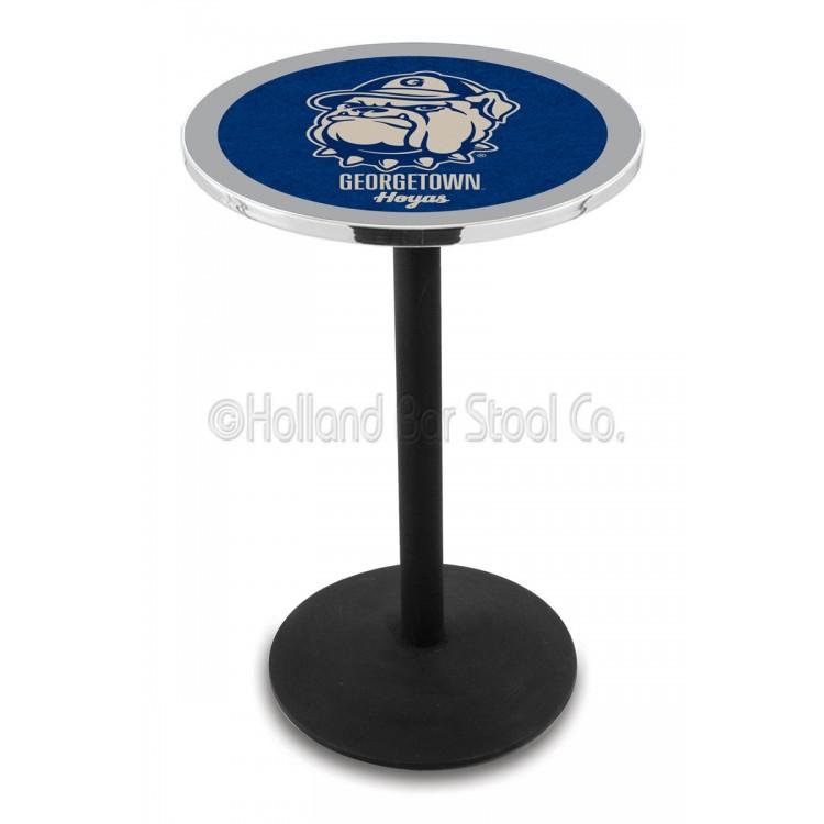 "Georgetown Hoyas 42"" L214 Black Wrinkle Pub Table"