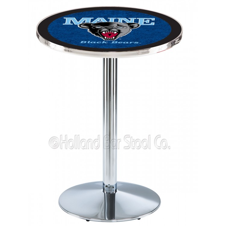 "Maine Black Bears 36"" L214 Chrome Pub Table"