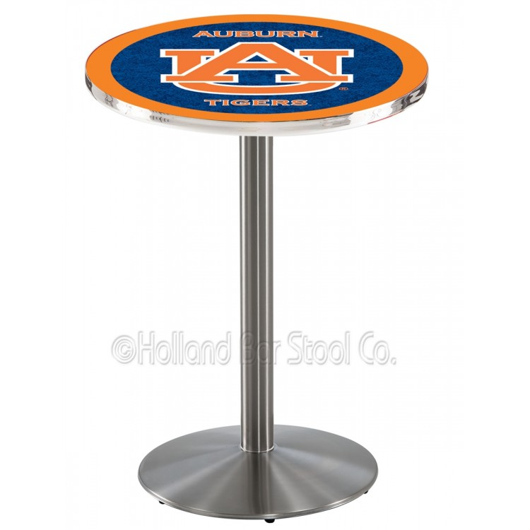 "Auburn Tigers 36"" L214 Stainless Steel Pub Table"