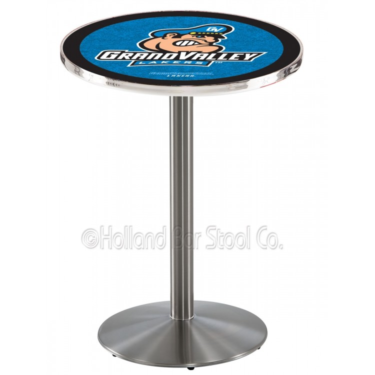 """Grand Valley State Lakers 36"""" L214 Stainless Steel Pub Table"""