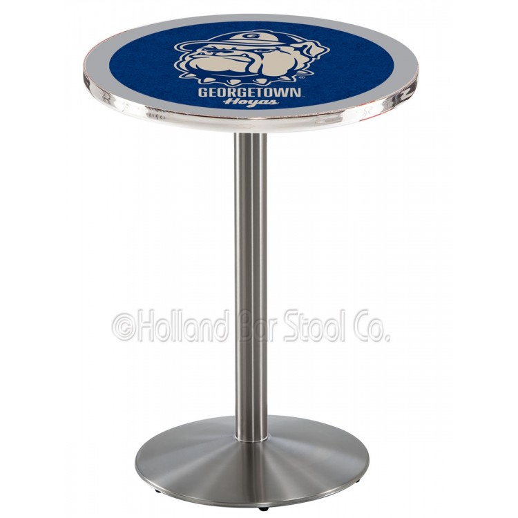 "Georgetown Hoyas 42"" L214 Stainless Steel Pub Table"