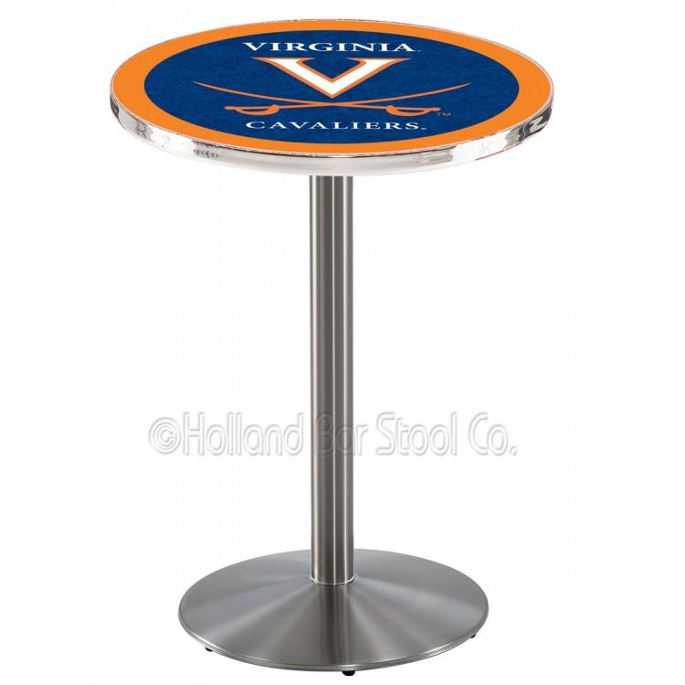 """Virginia Cavaliers 42"""" L214 Stainless Steel Pub Table"""