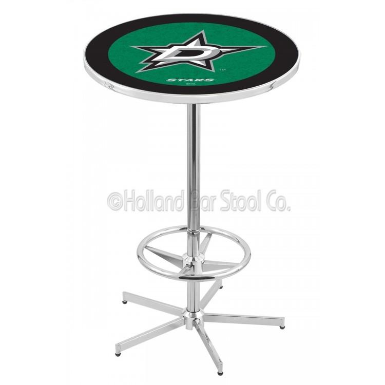 """Dallas Stars 42"""" L216 Chrome Pub Table"""
