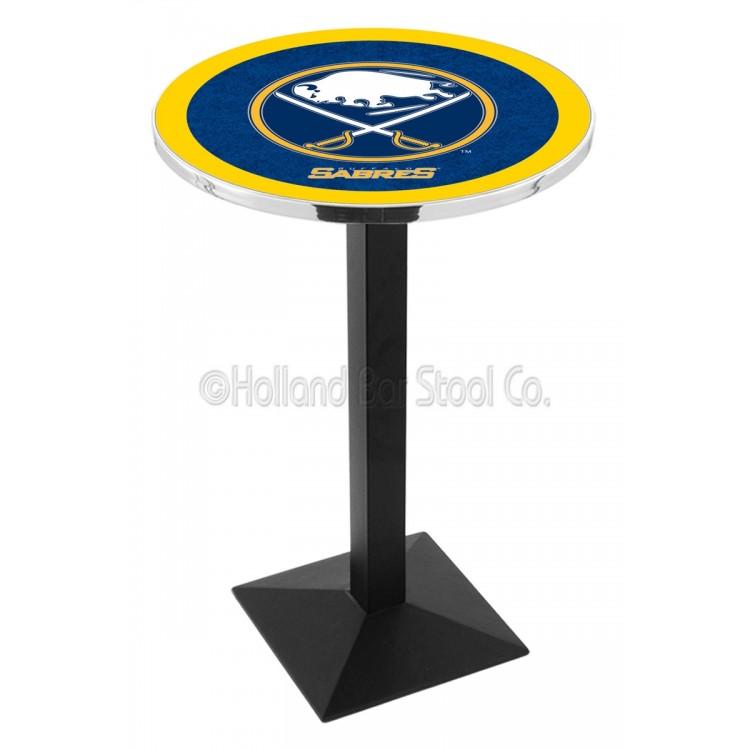 "Buffalo Sabres 42"" L217 Black Wrinkle Pub Table"