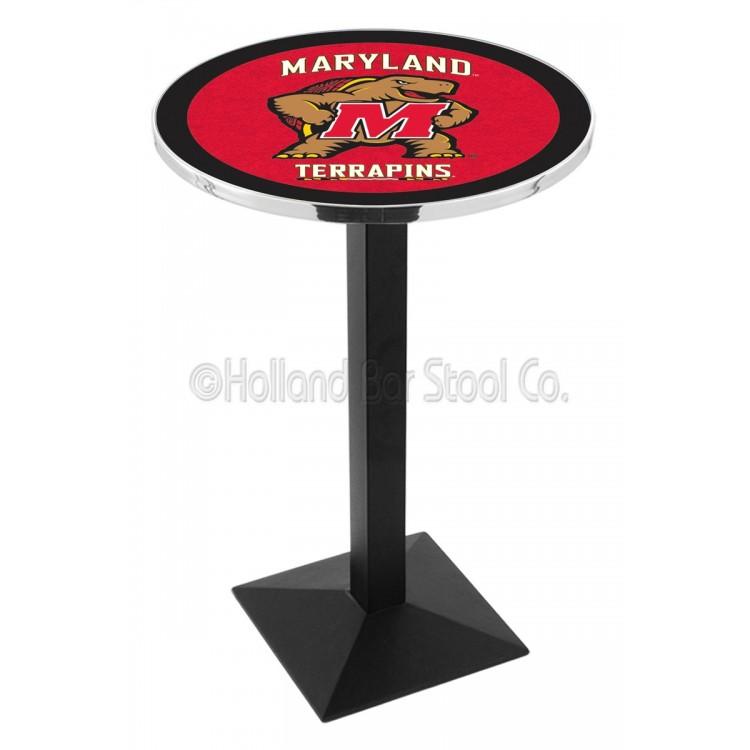"Maryland Terrapins 42"" L217 Black Wrinkle Pub Table"