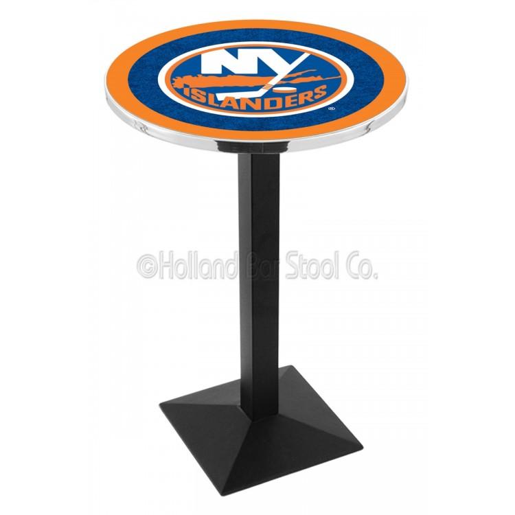 "New York Islanders 42"" L217 Black Wrinkle Pub Table"