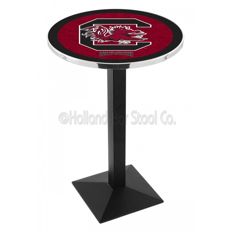 """South Carolina Gamecocks 42"""" L217 Black Wrinkle Pub Table"""