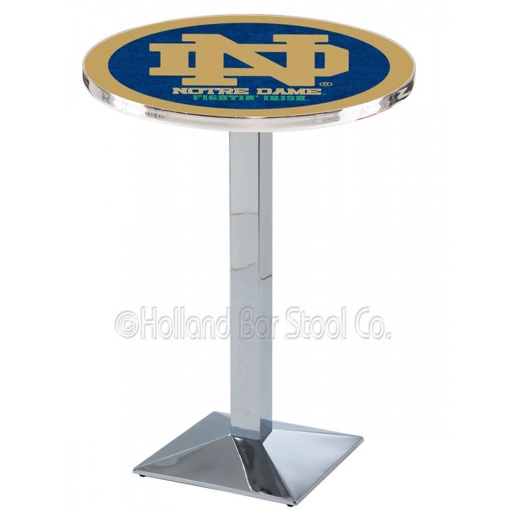 """Notre Dame Irish 36"""" Chrome L217 Pub Table"""