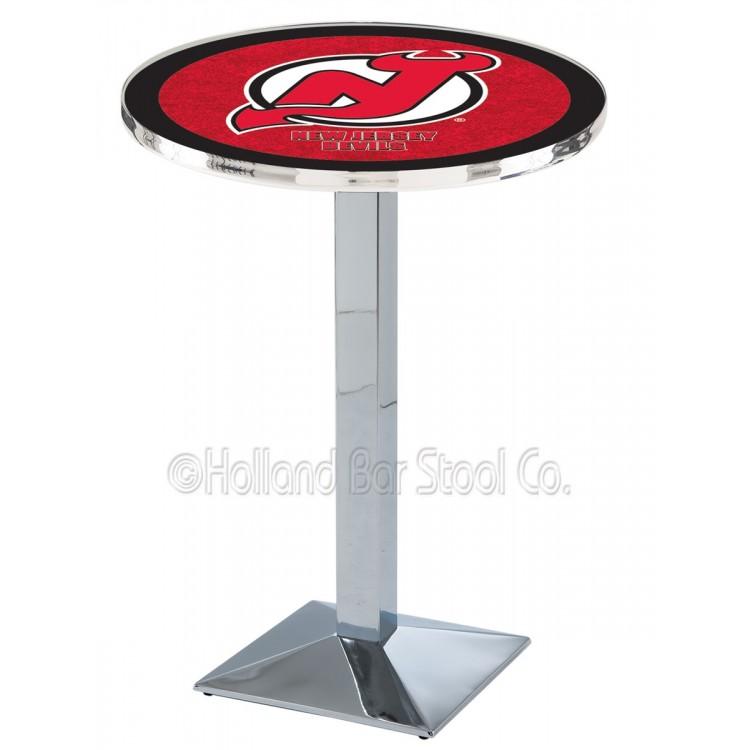 "New Jersey Devils 36"" Chrome L217 Pub Table"