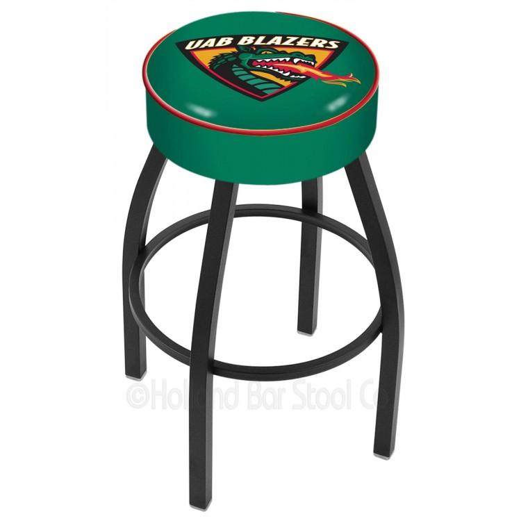 "Alabama Birmingham Blazers 30"" 4"" Cushion Seat with Black Wrinkle Base Swivel Bar Stool"