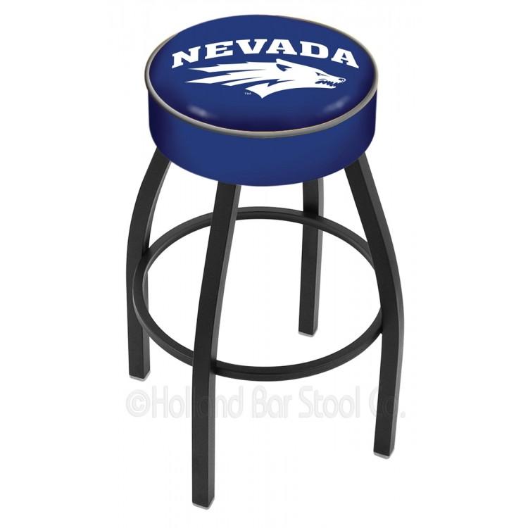 """Nevada Wolfpack 30"""" 4"""" Cushion Seat with Black Wrinkle Base Swivel Bar Stool"""