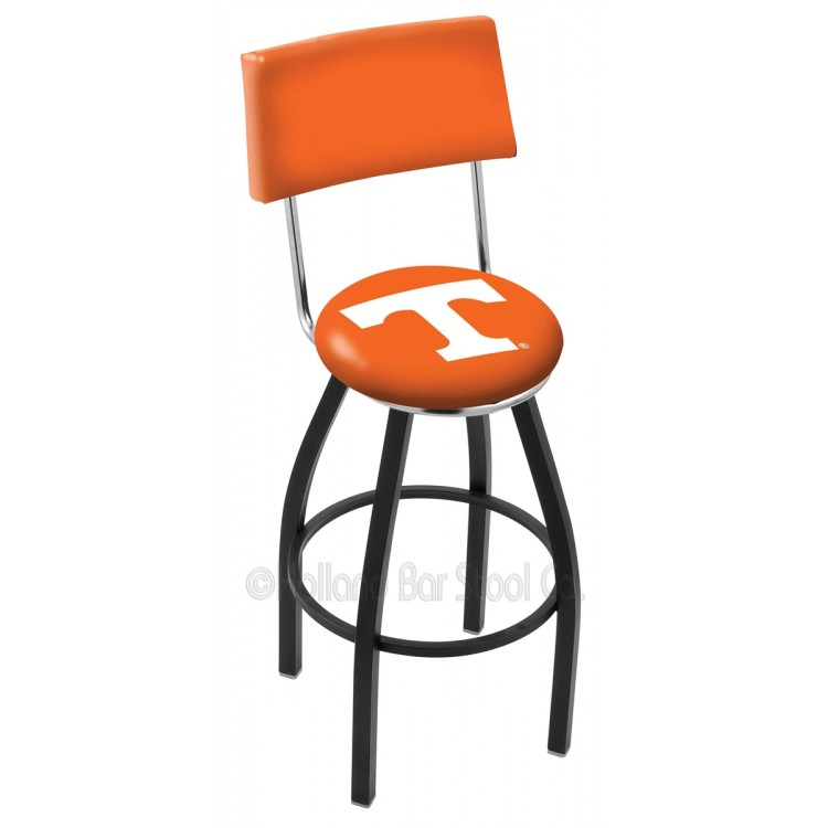 """Tennessee Volunteers 25"""" Black Wrinkle Swivel Bar Stool with a Back"""