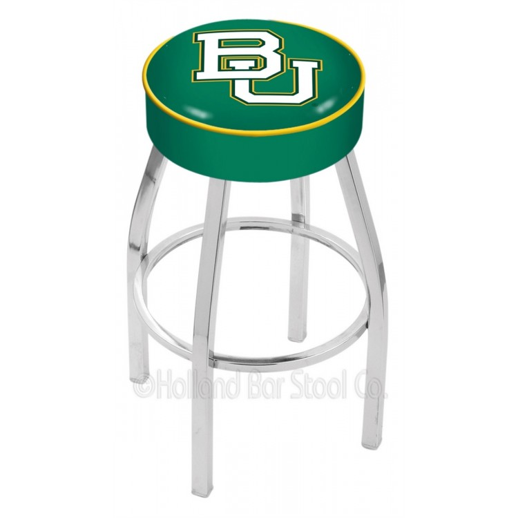 "Baylor Bears 30"" 4"" Cushion Seat with Chrome Base Swivel Bar Stool"