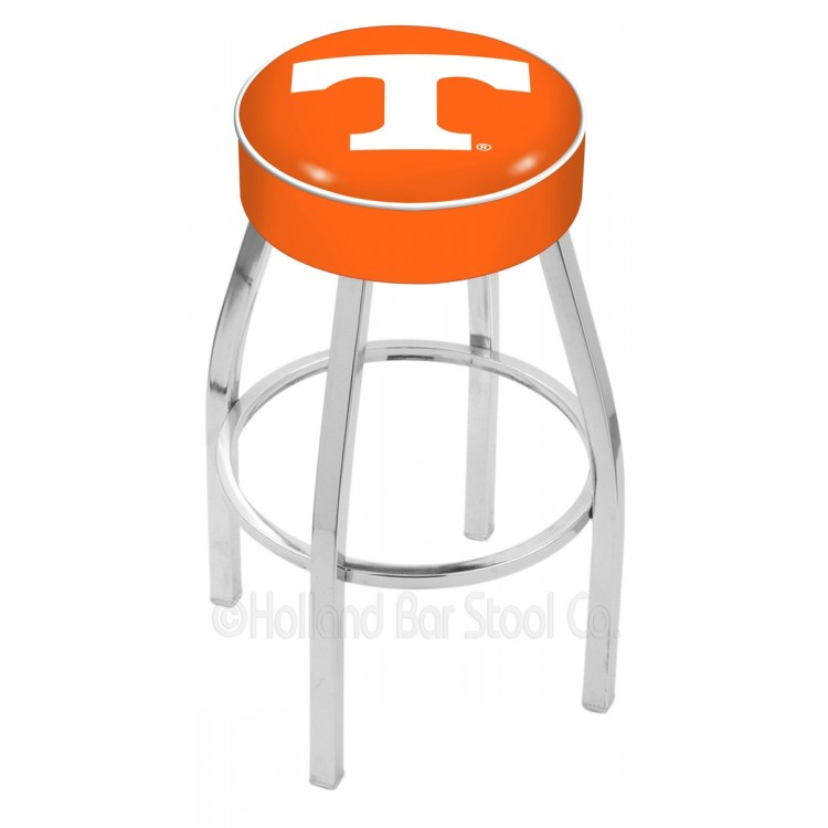 """Tennessee Volunteers 30"""" 4"""" Cushion Seat with Chrome Base Swivel Bar Stool"""