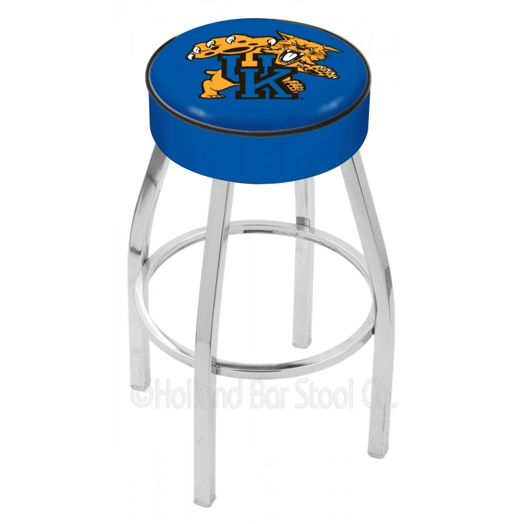 "Kentucky Wildcats 30"" 4"" Cushion Seat with Chrome Base Swivel Bar Stool"