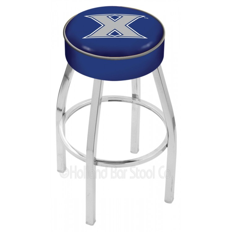 """Xavier Musketeers 30"""" 4"""" Cushion Seat with Chrome Base Swivel Bar Stool"""