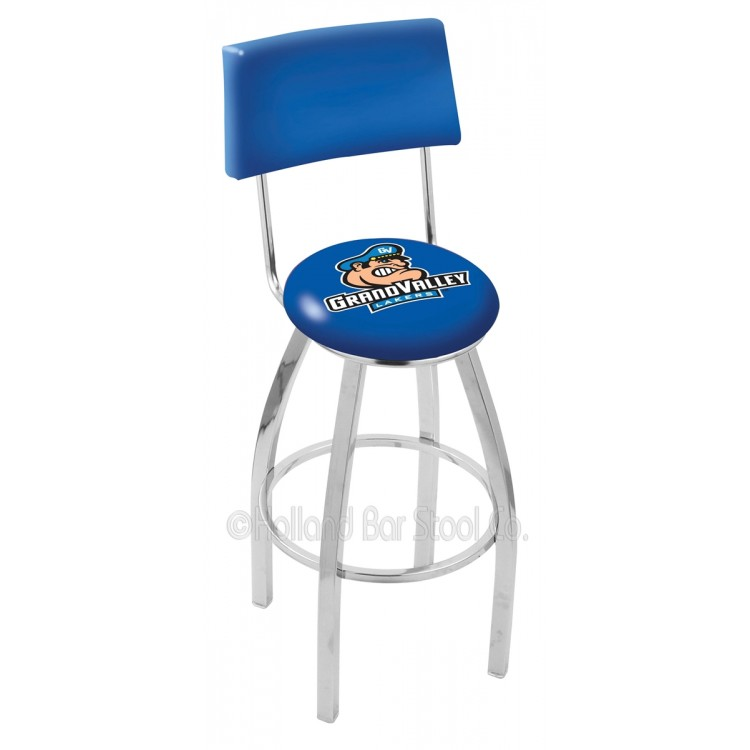 """Grand Valley State Lakers 30"""" Chrome Swivel Bar Stool"""