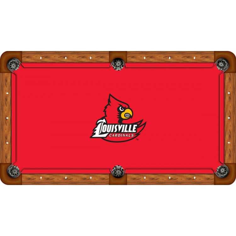 Louisville Cardinals 8' Billiard Table Felt - Recreational