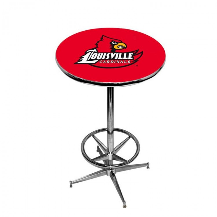 Louisville Cardinals Pub Table w/ Foot Ring Base