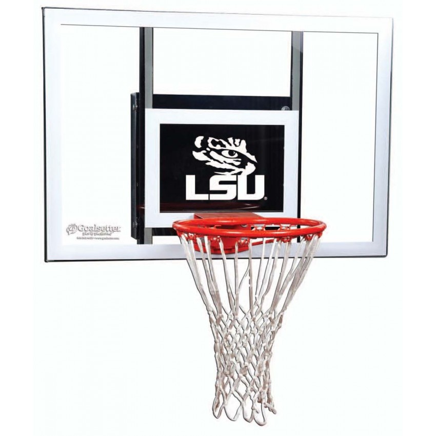 LSU Tigers Jr. Wall-Mount Basketball Hoop