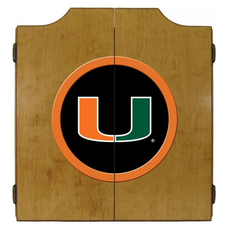Miami Dart Cabinet-Oak Finish