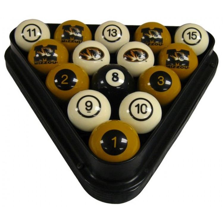 Mizzou Billiard Ball Set - NUMBERED