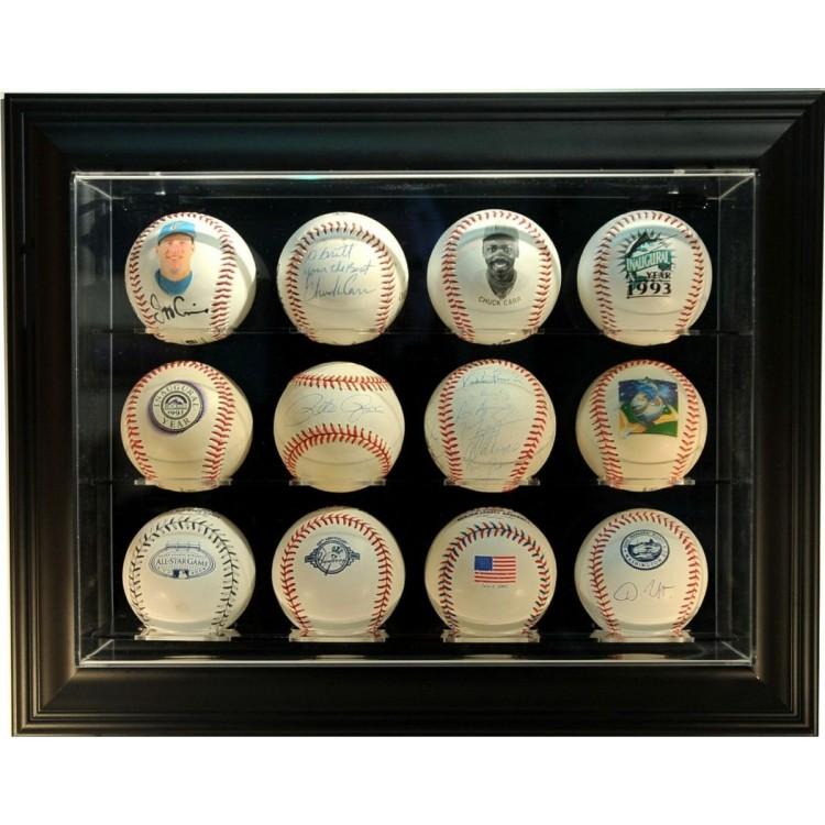 "12 Baseball ""Case-Up"" Display, Black"