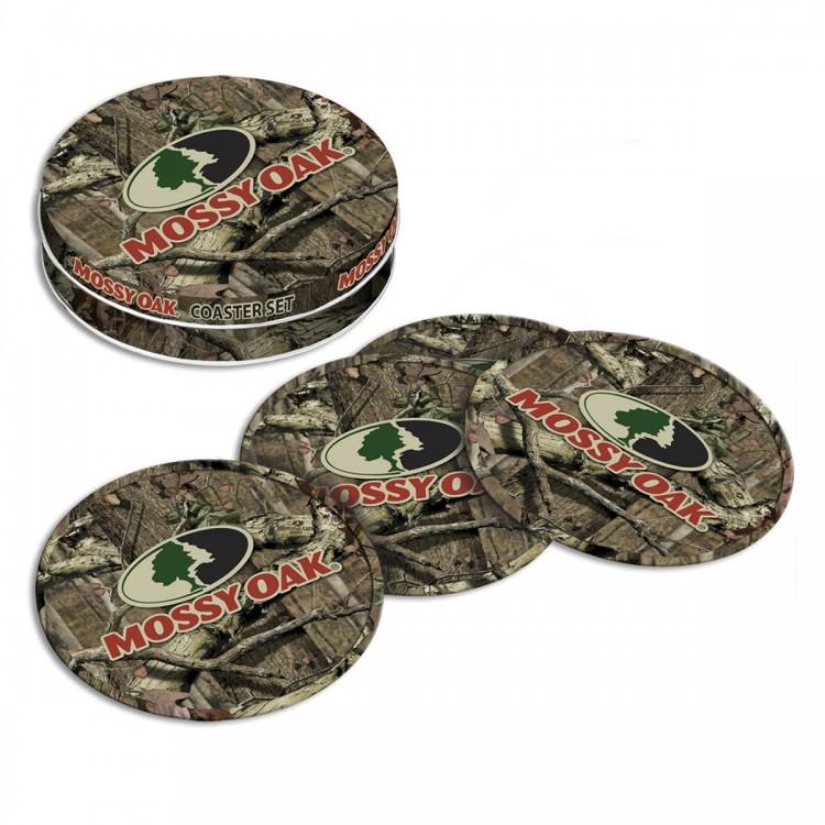 Mossy Oak Tin Coaster Set