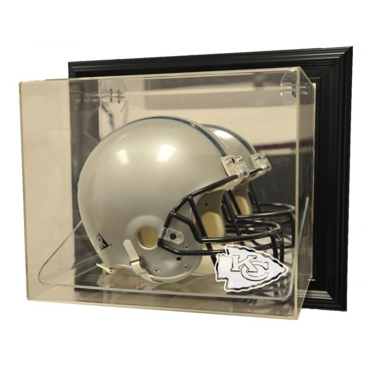 "Kansas City Chiefs Helmet ""Case-Up"" Display, Black"